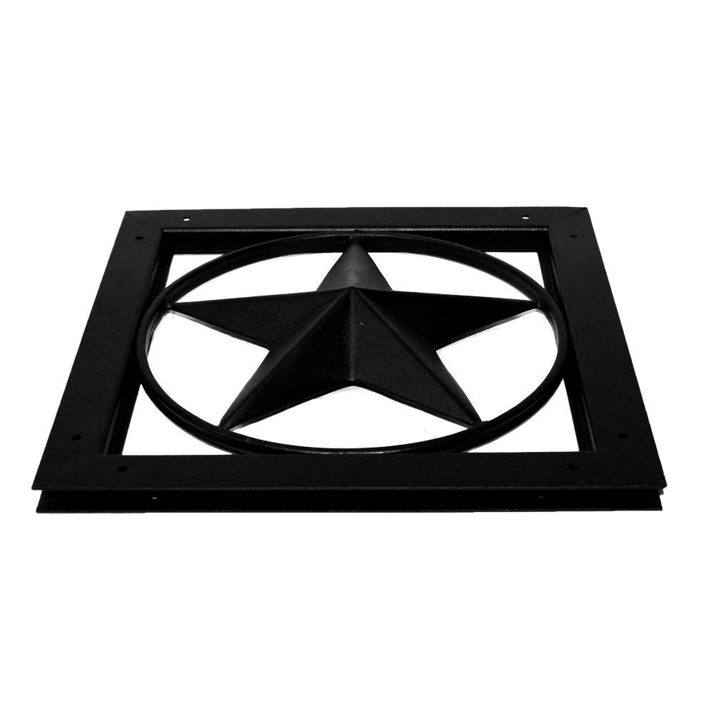 OWT Ornamental Wood Ties Gate Accent - Star in Black-56665 -