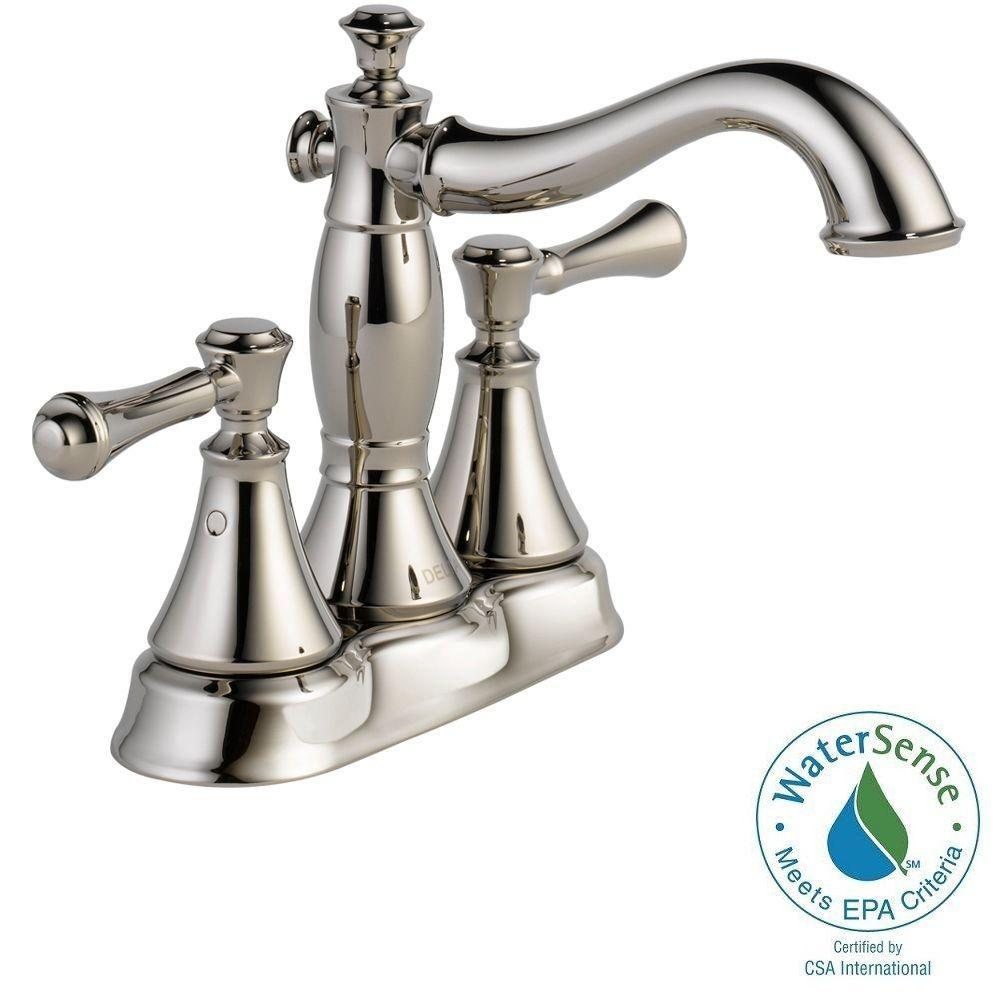 Cassidy 4 in. Centerset 2-Handle High-Arc Bathroom Faucet in Polished Nickel