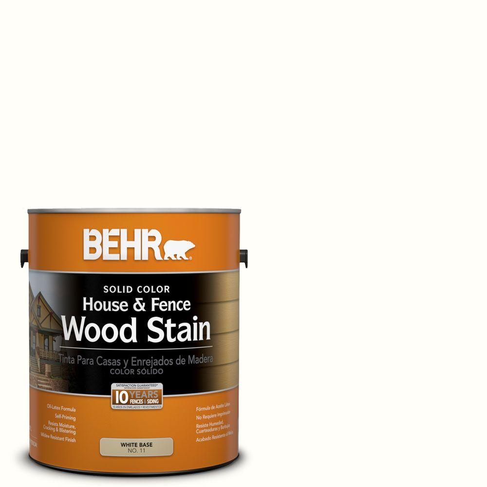 BEHR 1-gal. #SC-210 Ultra Pure White Solid Color House and Fence