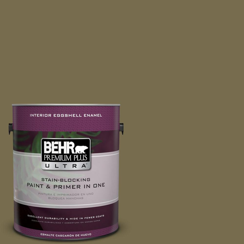 1-Gal. #PPU8-1 Olive Eggshell Enamel Interior Paint