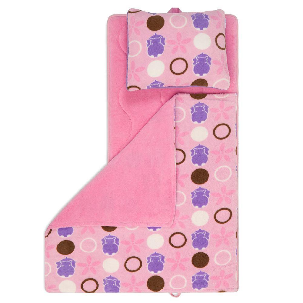 Aquatopia Hippo Pink 41 in. x 19 in. Deluxe Memory Foam Nap Mat-DISCONTINUED