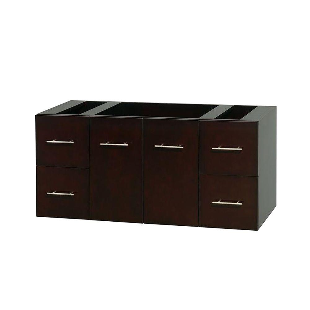 Wyndham Collection Centra 47 in. Vanity Cabinet Only in