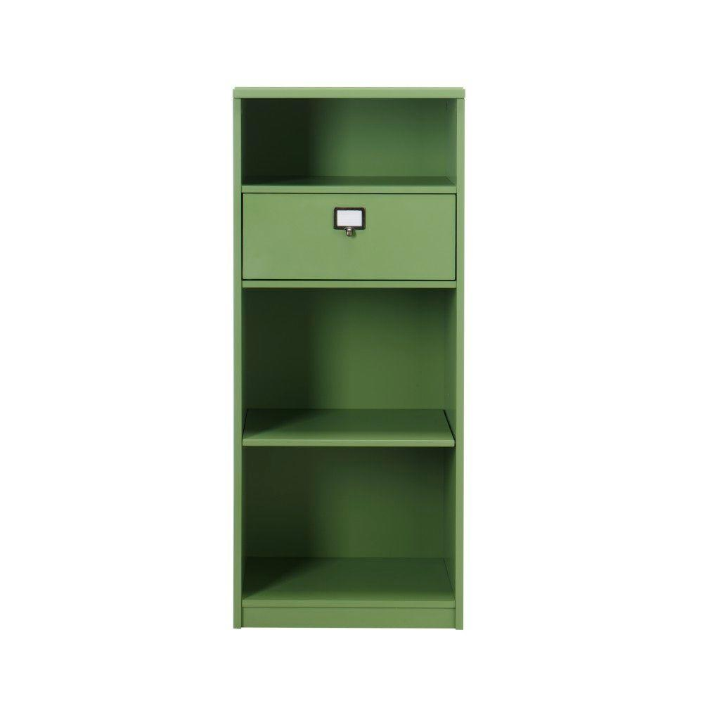 Martha Stewart Living Solutions Rhododendron Leaf 4-Shelf Bookcase with Drawer