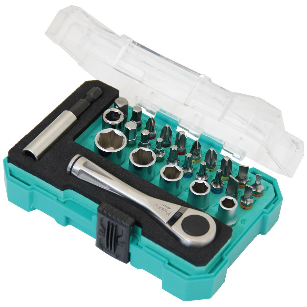 1/4 in. Drive Sockets and Screwdriver Set (27-Piece)