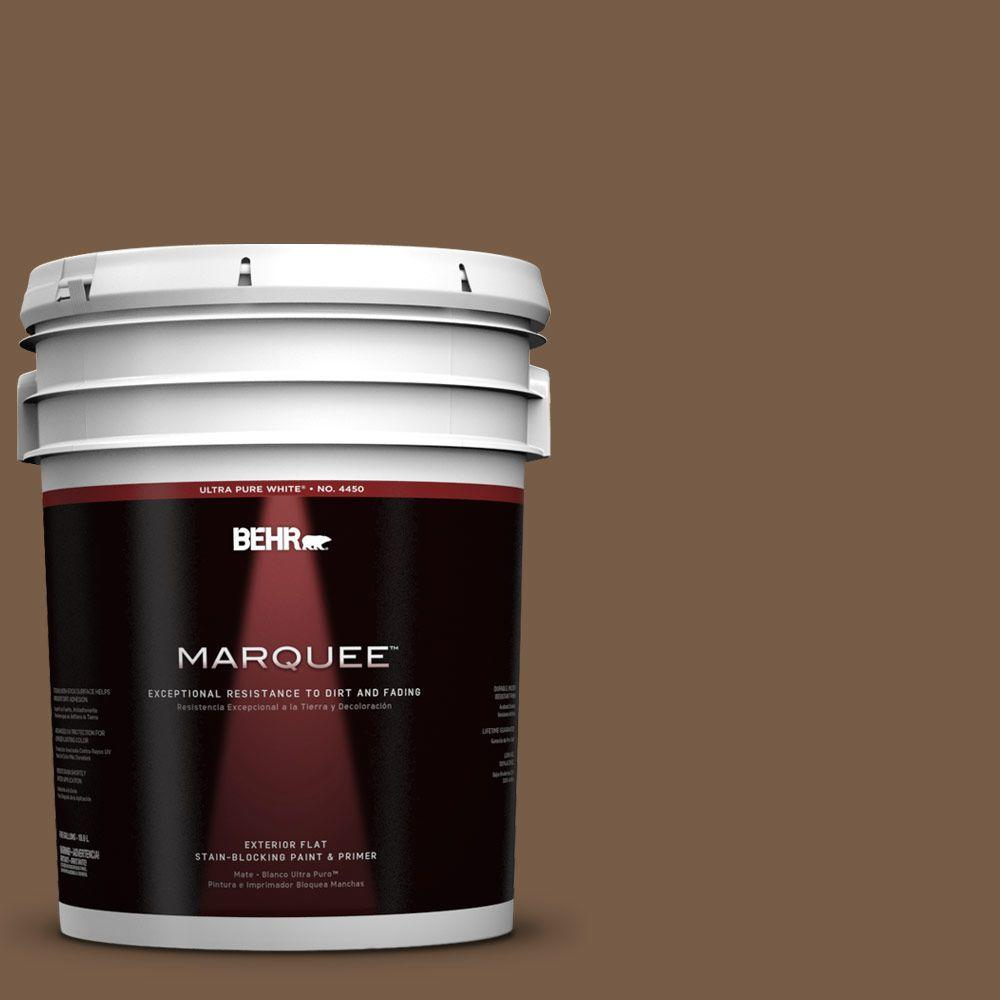 Interior Paint, Exterior Paint & Paint Samples: BEHR MARQUEE Paint 5-gal. #N250-7 Mission Brown Flat Exterior Paint 445305