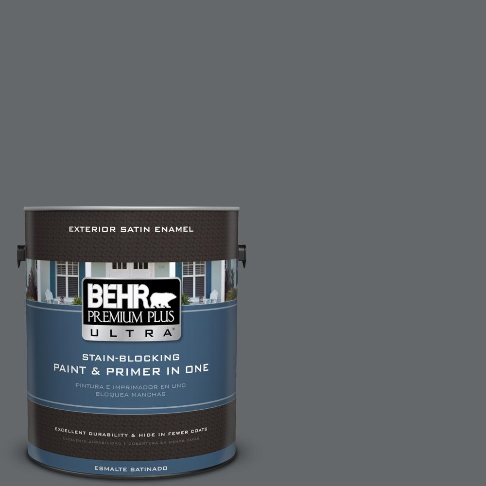 1 gal. #PPU26-02 Imperial Gray Satin Enamel Exterior Paint