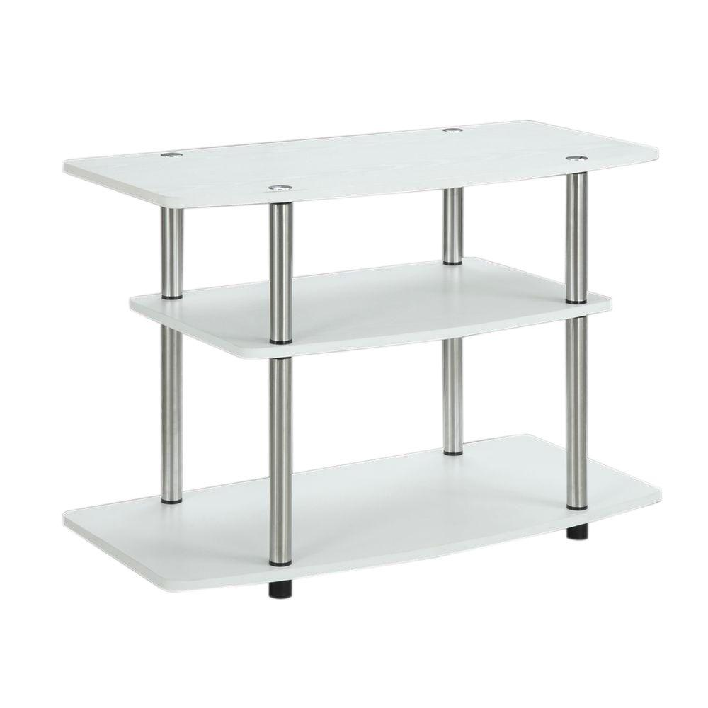 Convenience Concepts Designs2Go 3-Tier TV Stand in White-131020W - The Home