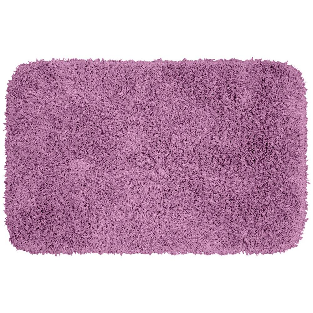 Garland rug jazz purple 24 in x 40 in washable bathroom for Rugs with purple accents