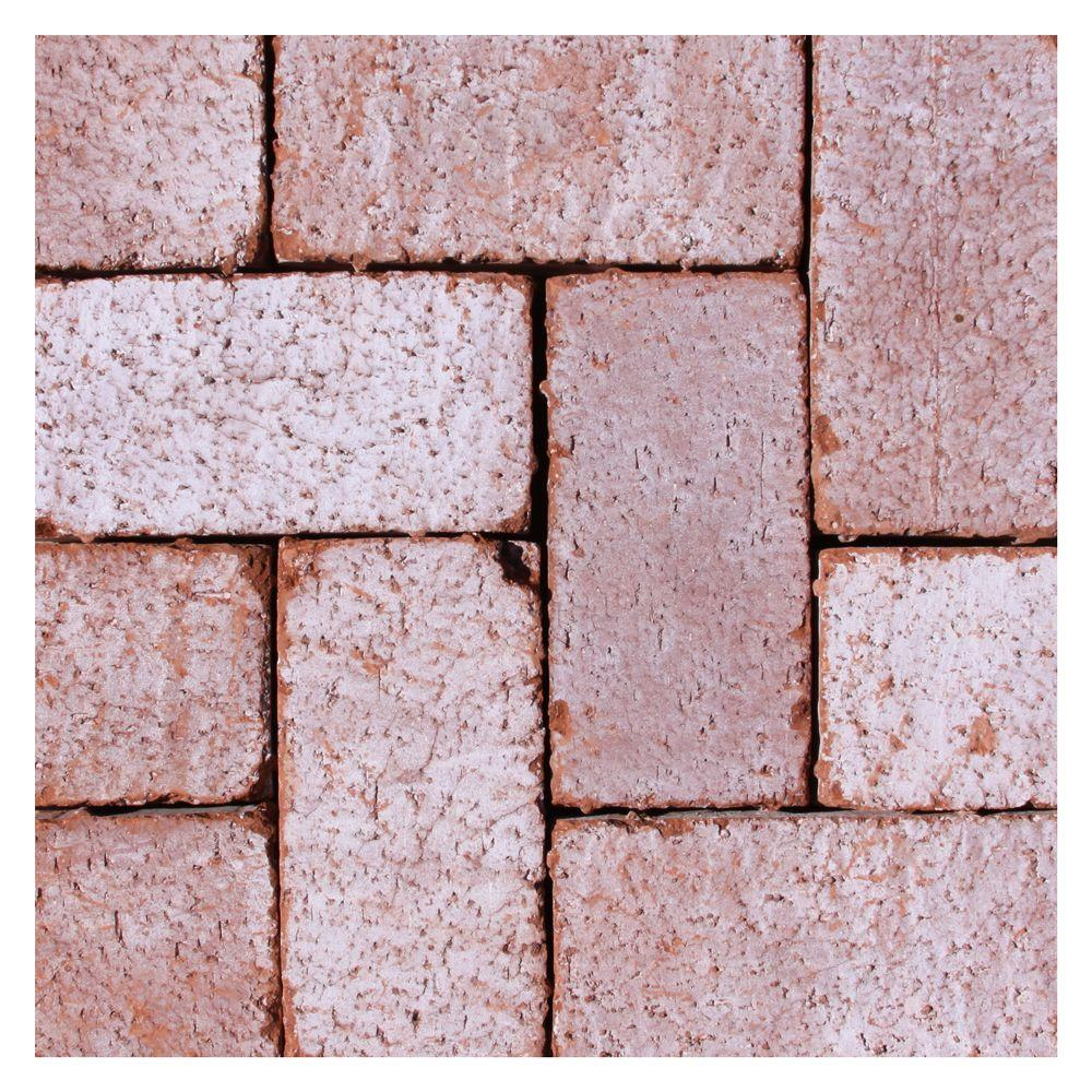 null Mission Split 8 in. x 4 in. x 1.63 in. Tumbled Clay Cabrillo Paver