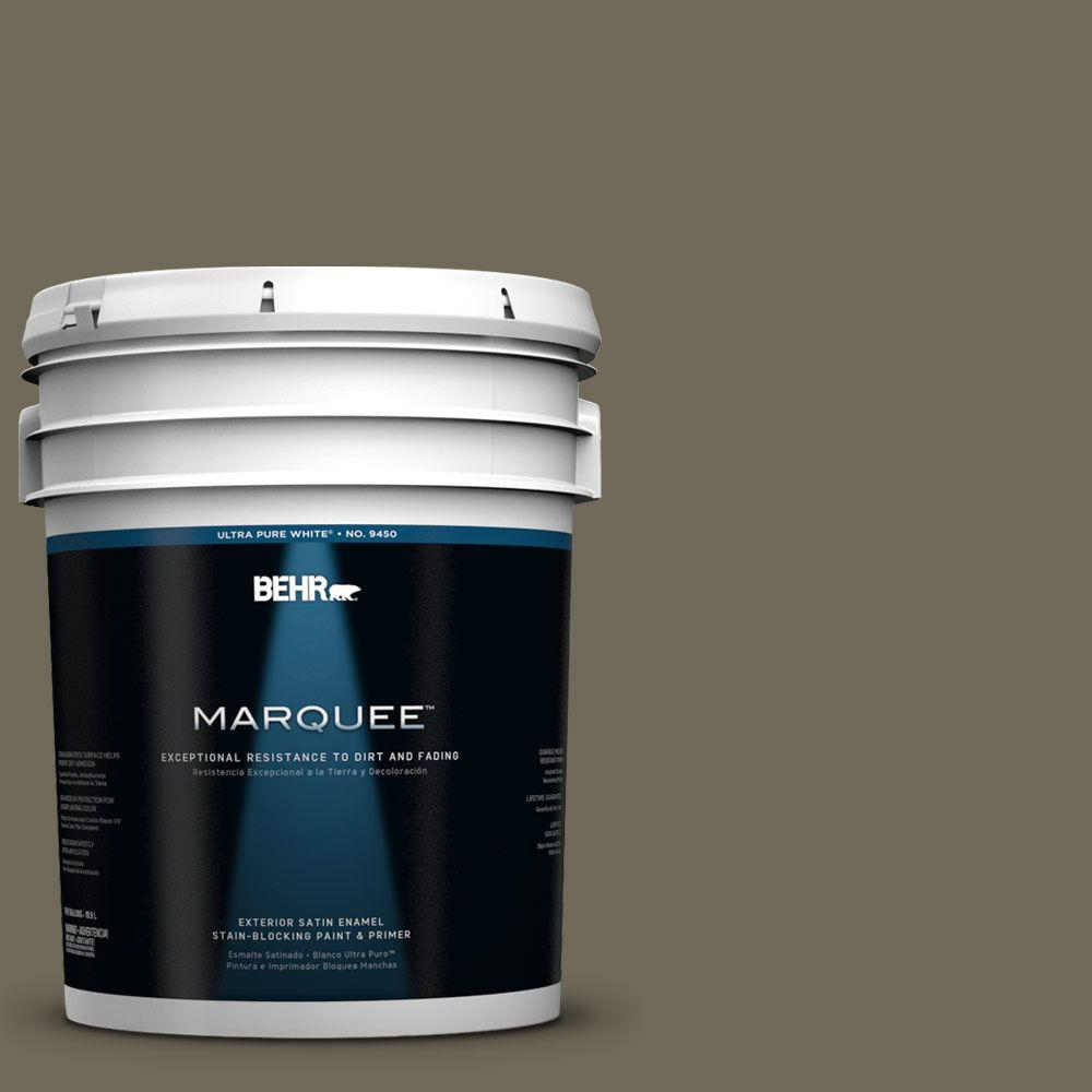 BEHR MARQUEE 5-gal. #770D-6 Sandwashed Driftwood Satin Enamel Exterior Paint