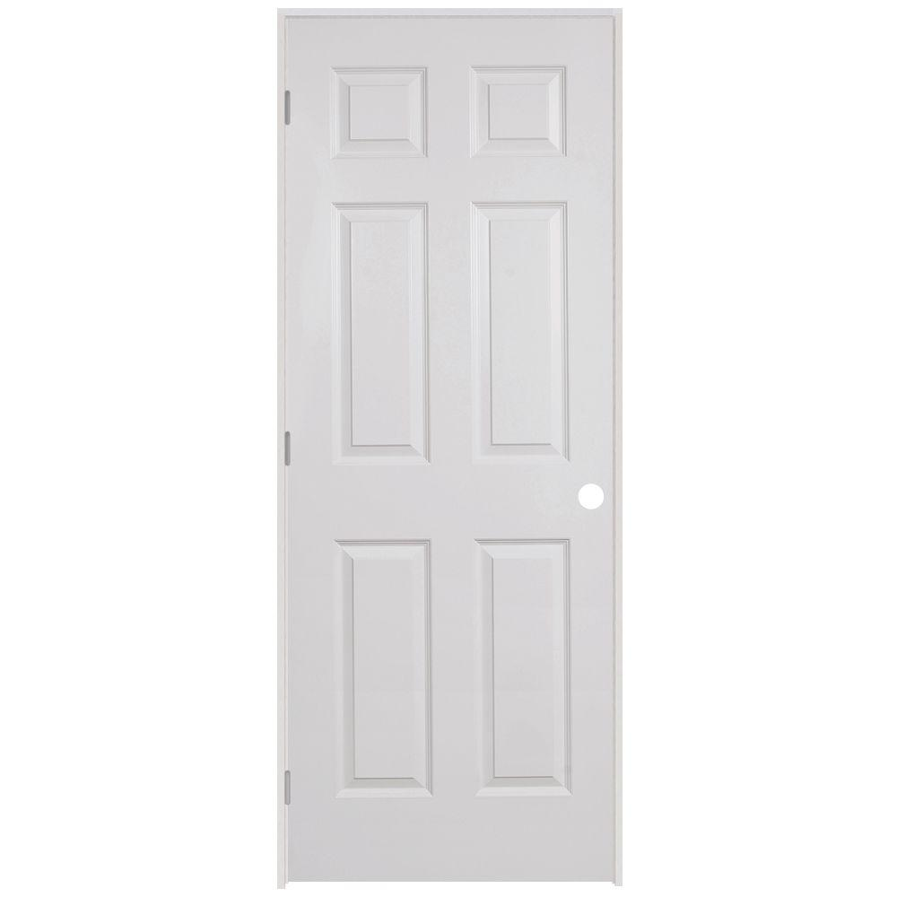 Steves Sons 32 In X 80 In 6 Panel Textured Hollow Core Primed White Composite Single Prehung