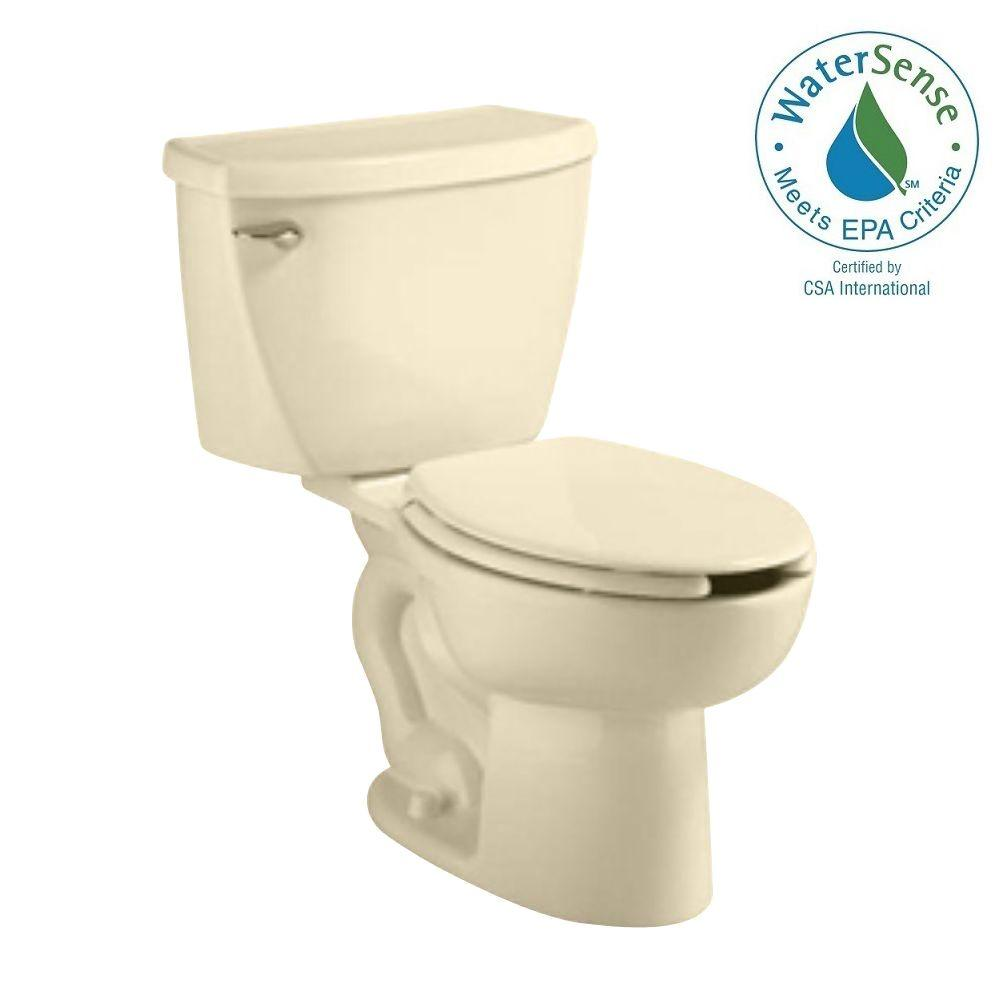 American Standard Cadet FloWise Right Height Pressure-Assisted 2-piece 1.1 GPF Elongated Toilet in Bone