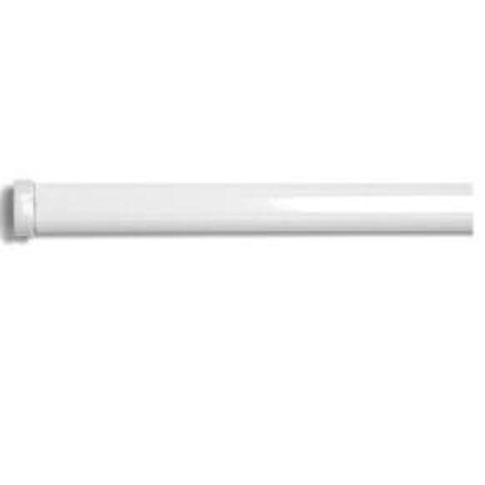 Home Decorators Collection 48 in. - 84 in. L 5/8 in. Spring Tension Curtain Rod in White