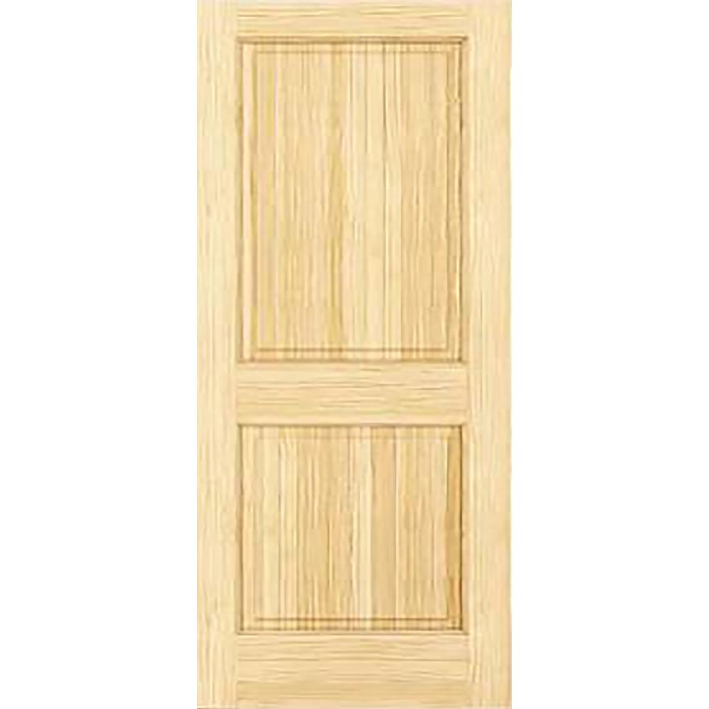 Kimberly bay 30 in x 80 in unfinished 2 double hip panel solid core wood interior door slab for Solid wood interior doors home depot