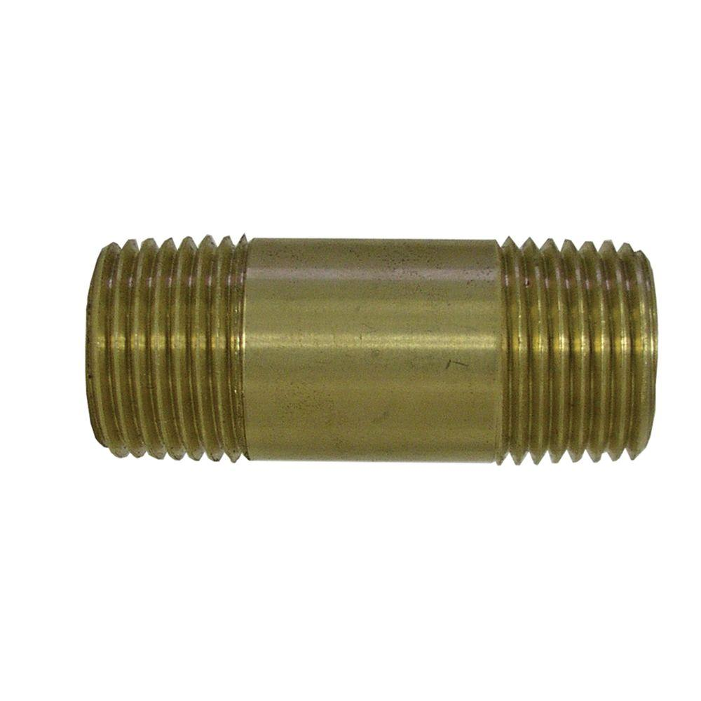 Sioux Chief 3/4 in. x 6 in. Lead-Free Brass Pipe Nipple