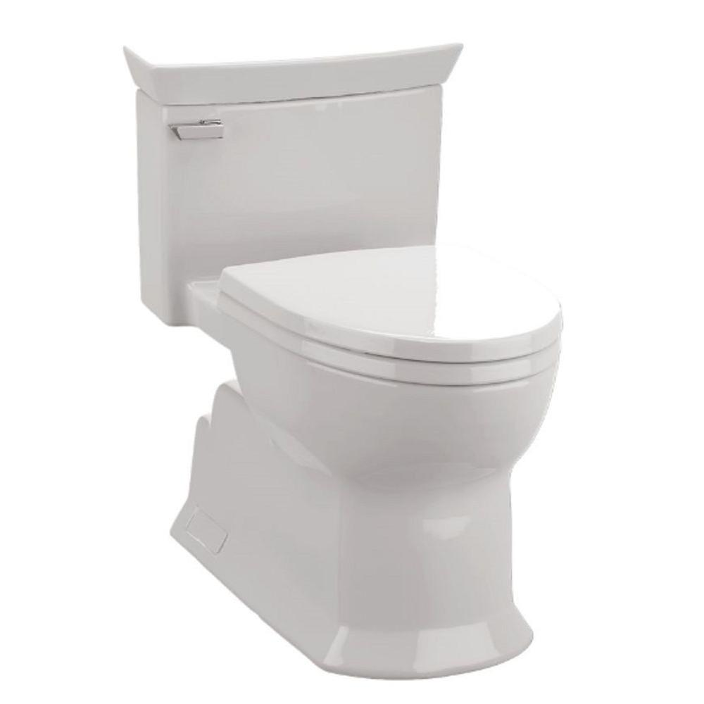 Eco Soiree 1-piece 1.28 GPF Single Flush Elongated Toilet with Chrome