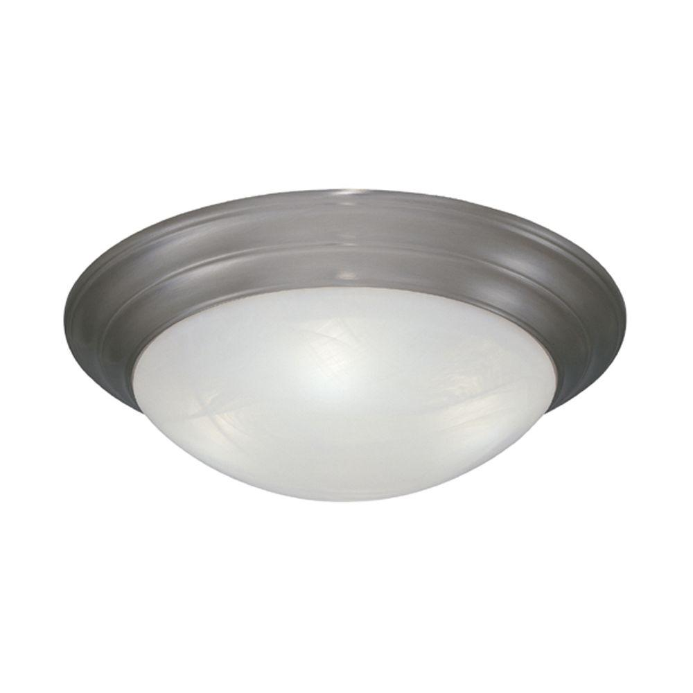 Clovis Collection 4-Light Pewter Ceiling Flushmount