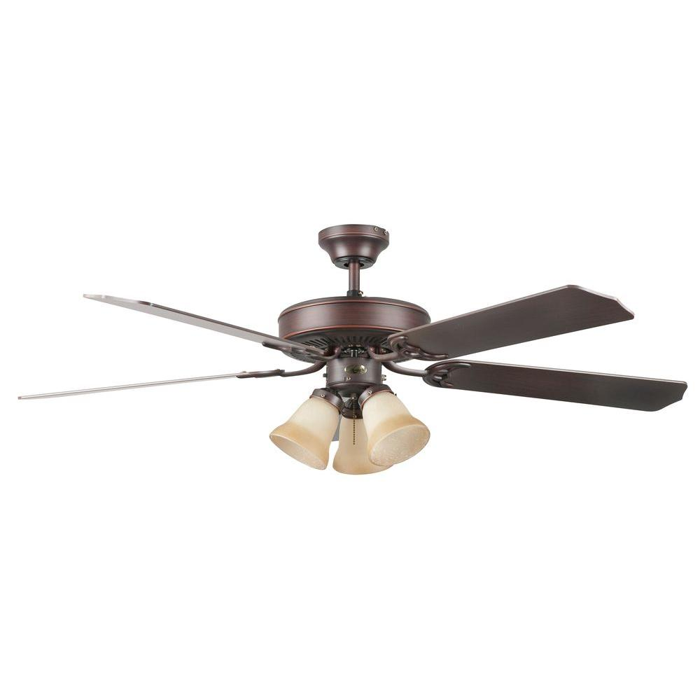 Heritage Home Series 52 in. Indoor Oil Rubbed Bronze Ceiling Fan