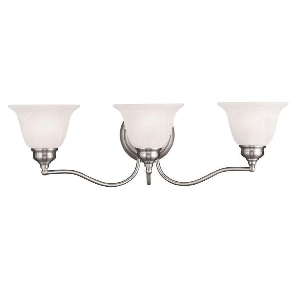 Providence 3-Light Brushed Nickel Incandescent Wall Vanity Light
