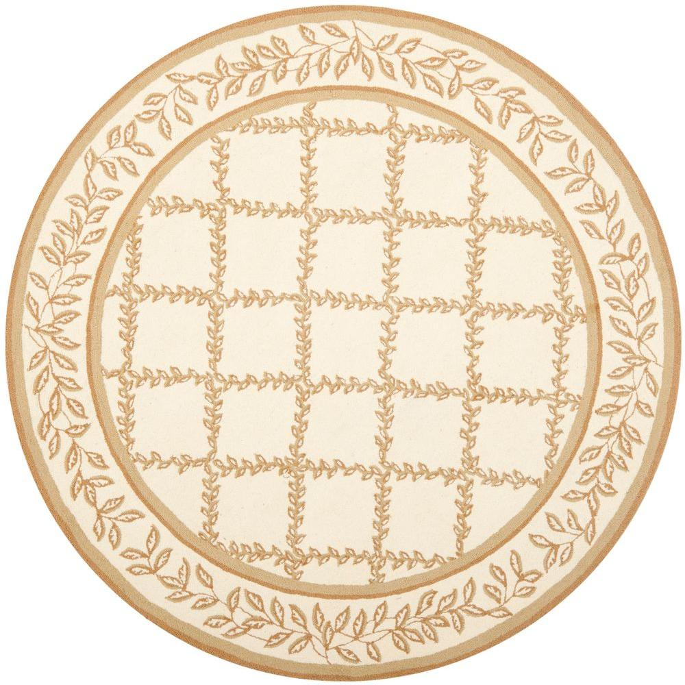 Safavieh Chelsea Ivory/Camel 5 ft. 6 in. x 5 ft. 6 in. Round Area Rug