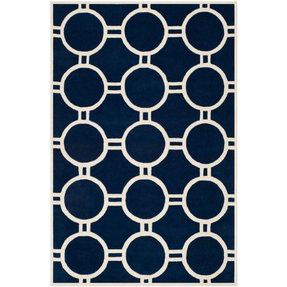 Chatham Dark Blue/Ivory 8 ft. x 10 ft. Area Rug
