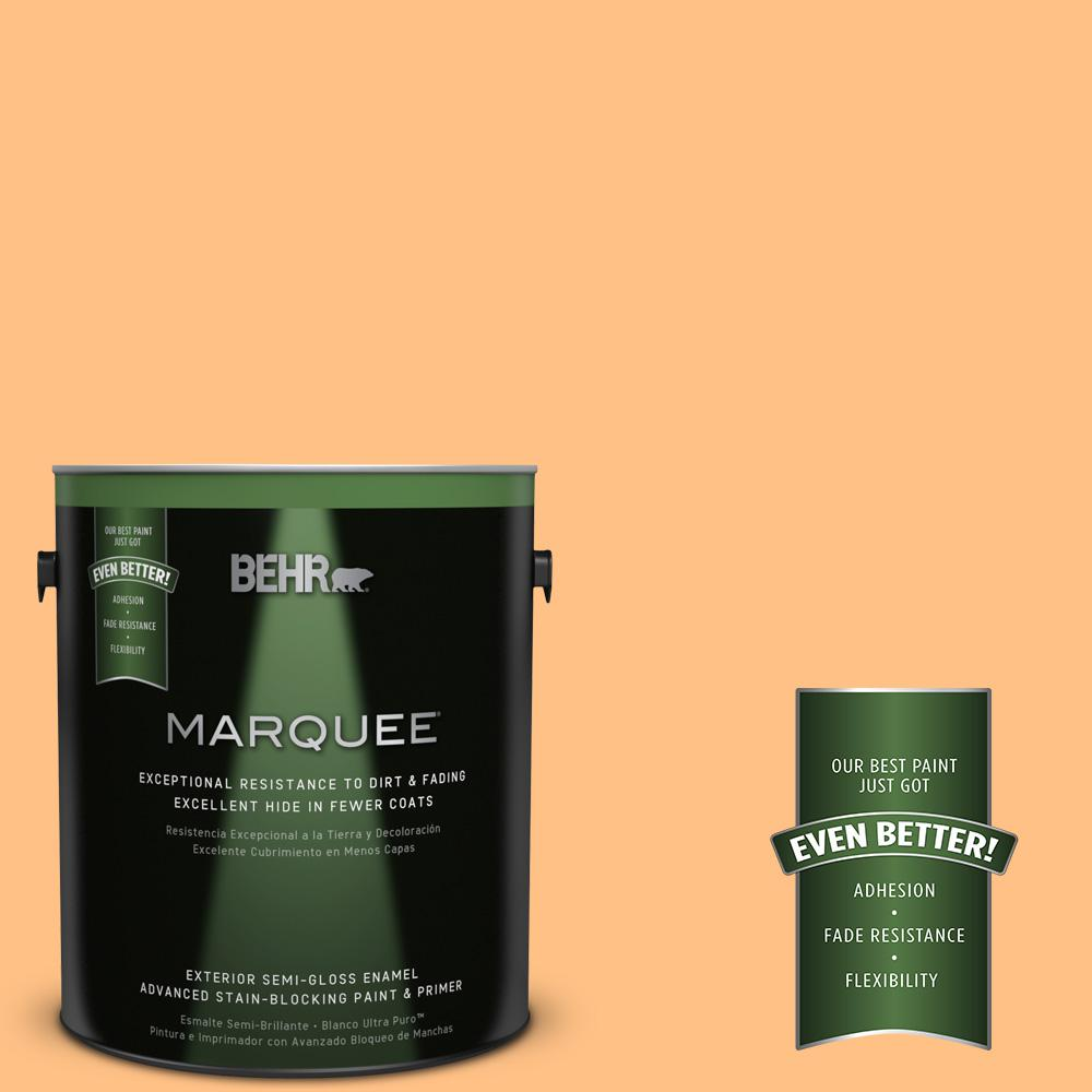 BEHR MARQUEE 1-gal. #PMD-68 Amber Sun Semi-Gloss Enamel Exterior Paint