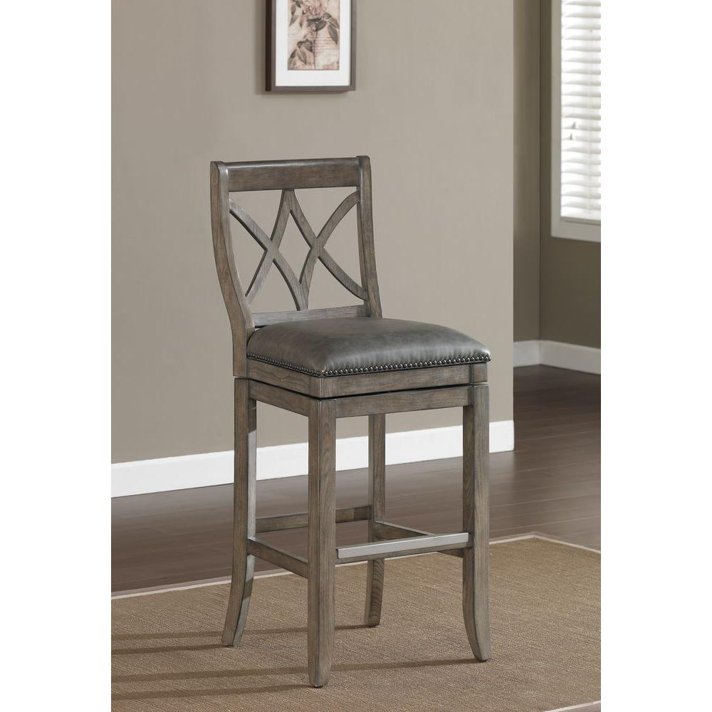 American Heritage Hadley 26 in. Counter Stool in Glacier