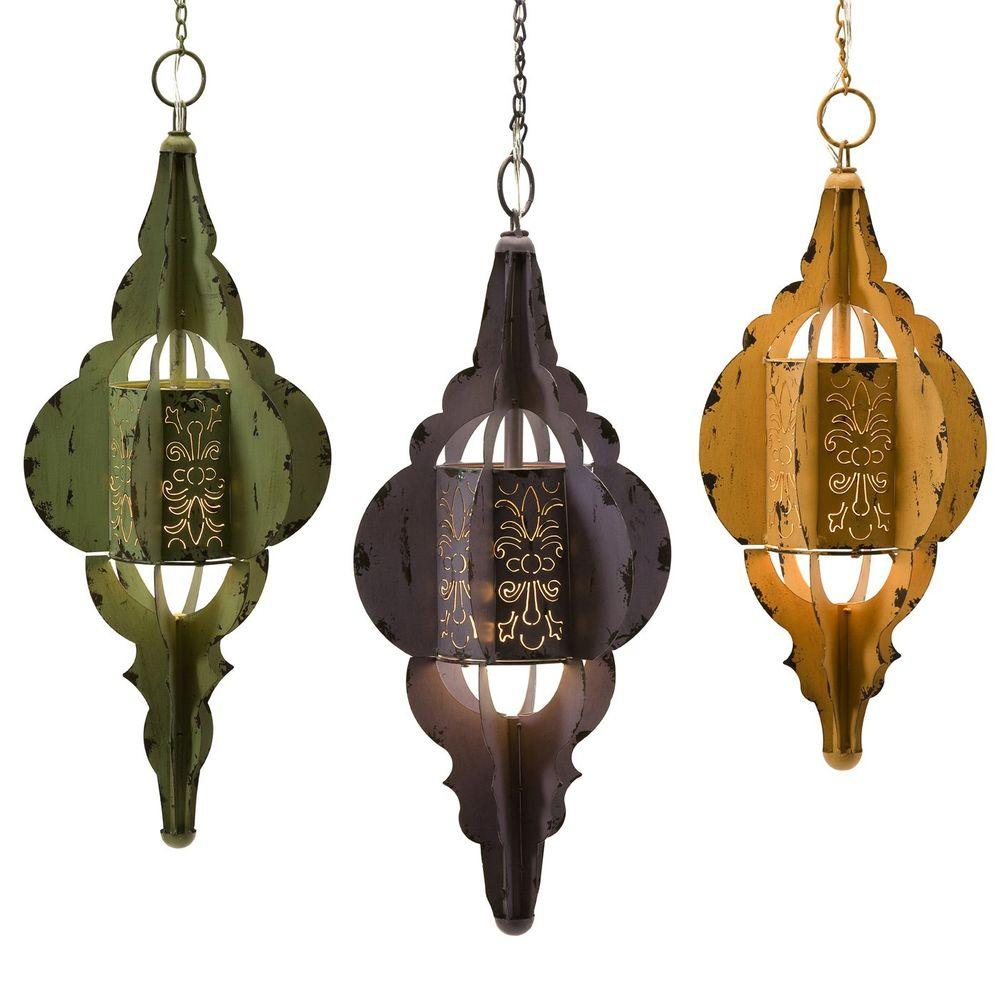 Filament Design 3-Light Blue, Green, and Yellow Incandescent Hanging Pendant (3-Set)