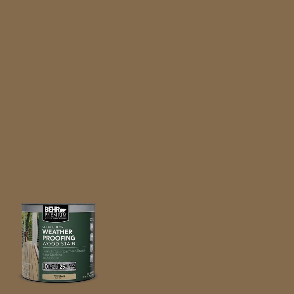 BEHR Premium 8 oz. #SC147 Castle Gray Solid Color Weatherproofing All-In-One