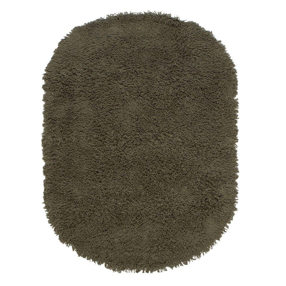 Home Decorators Collection Ultimate Shag Olive 5 ft. x 7 ft. Oval Area Rug