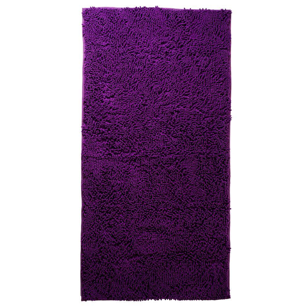 Lavish home purple 2 ft 6 in x 5 ft accent rug 67 13 pu for Rugs with purple accents
