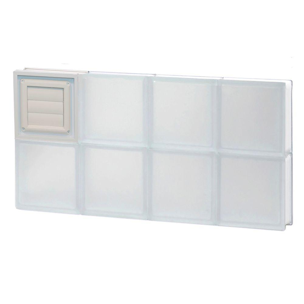 31 in. x 15.5 in. x 3.125 in. Frosted Glass Block