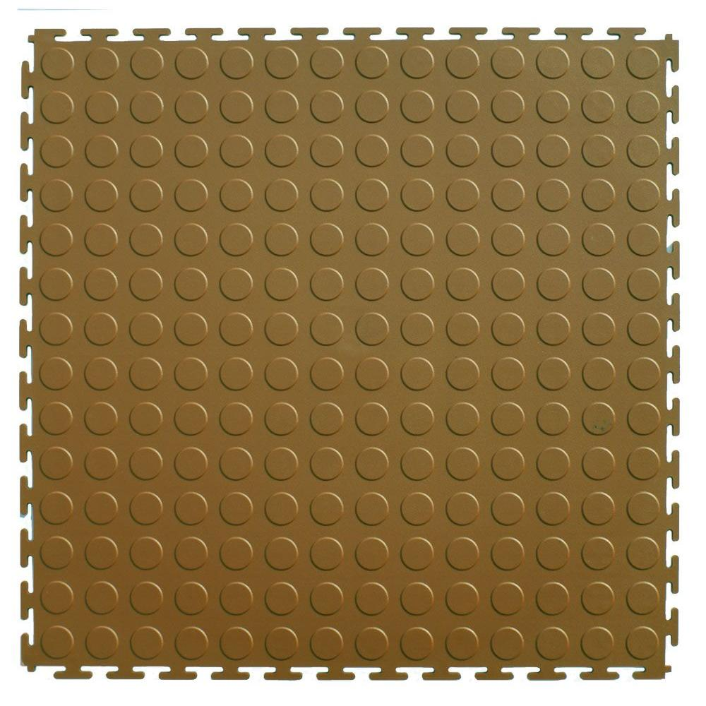 IT-tile 20-1/2 in. x 20-1/2 in. Coin Beige PVC Interlocking Multi-Purpose Flooring Tiles (23.25 sq. ft./case)