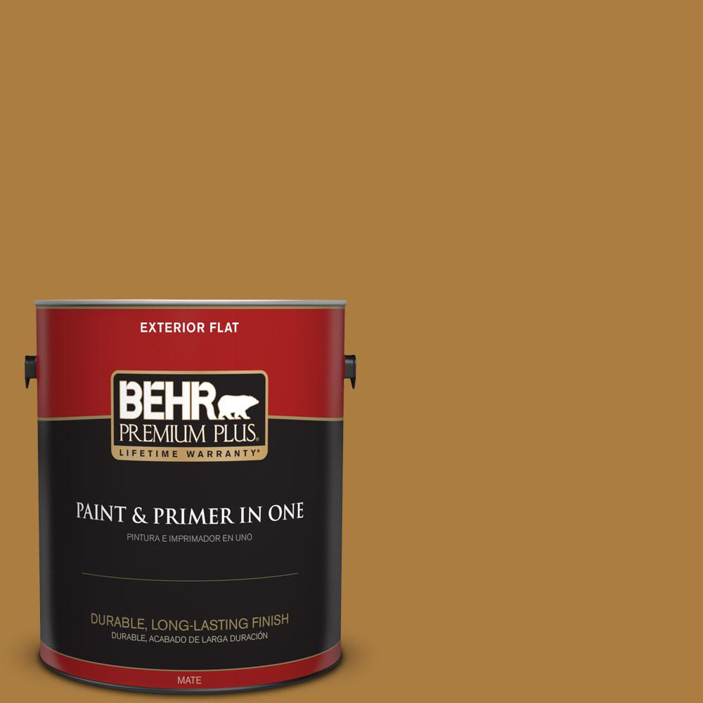 1-gal. #300D-6 Medieval Gold Flat Exterior Paint