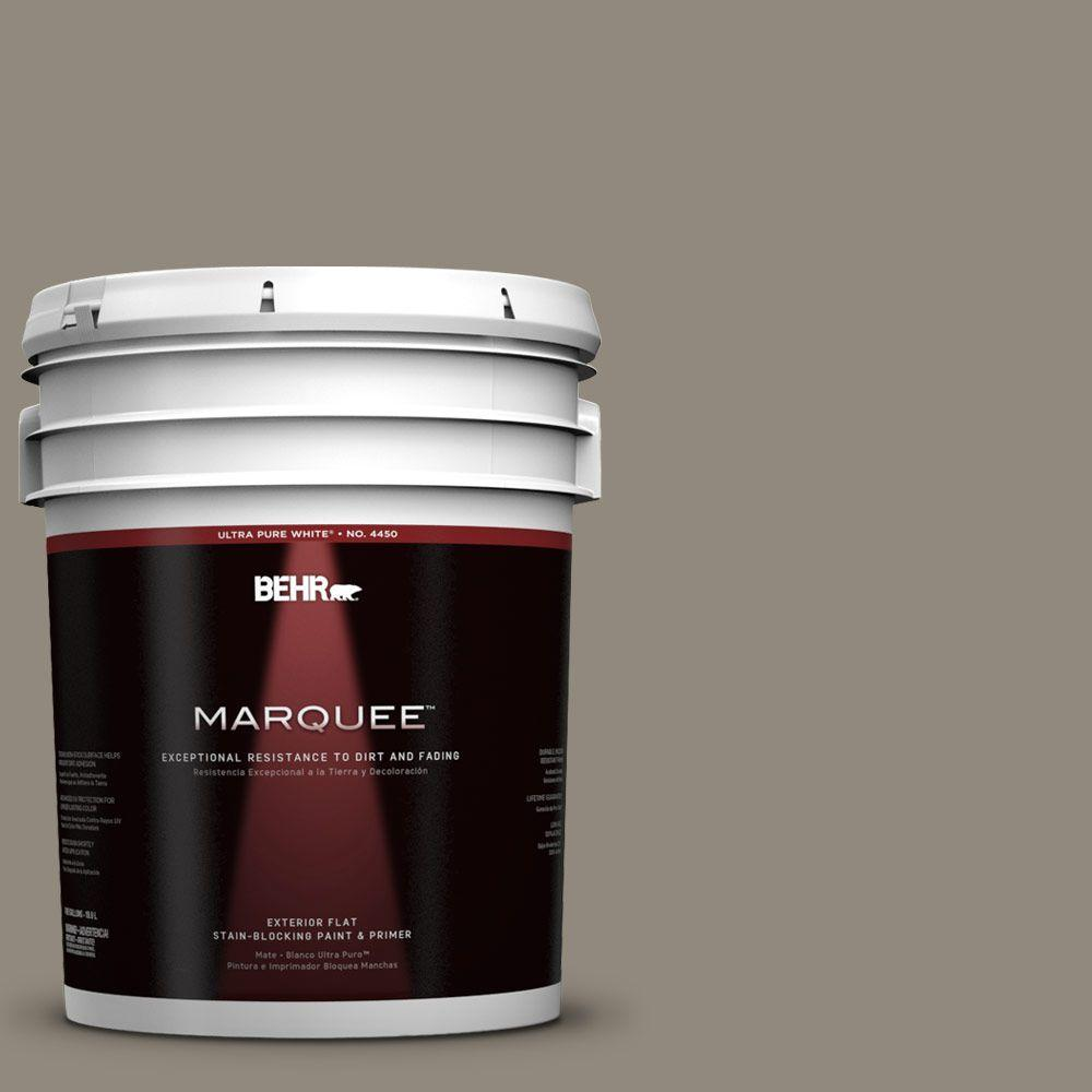 BEHR MARQUEE 5-gal. #790D-5 Squirrel Flat Exterior Paint-445305 - The Home