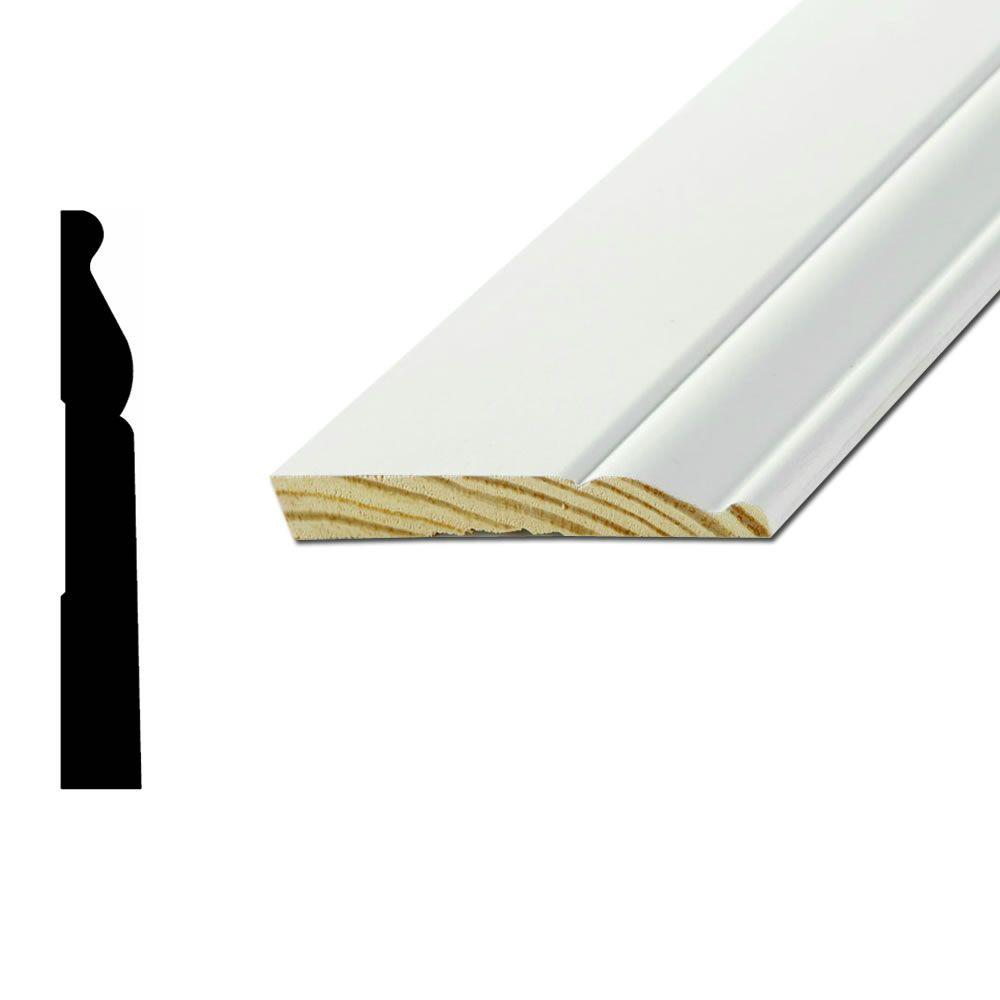 American Wood Moulding WM805A 1/2 in. x 5-1/4 in. Primed Finger-Jointed
