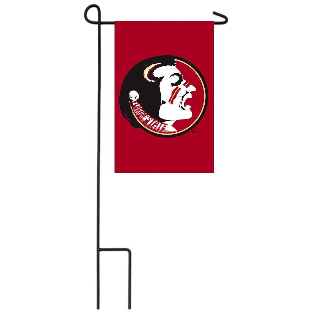 Team Sports America NCAA 12-1/2 in. x 18 in. Florida State 2-Sided Garden Flag with 3 ft. Metal Flag Stand-DISCONTINUED