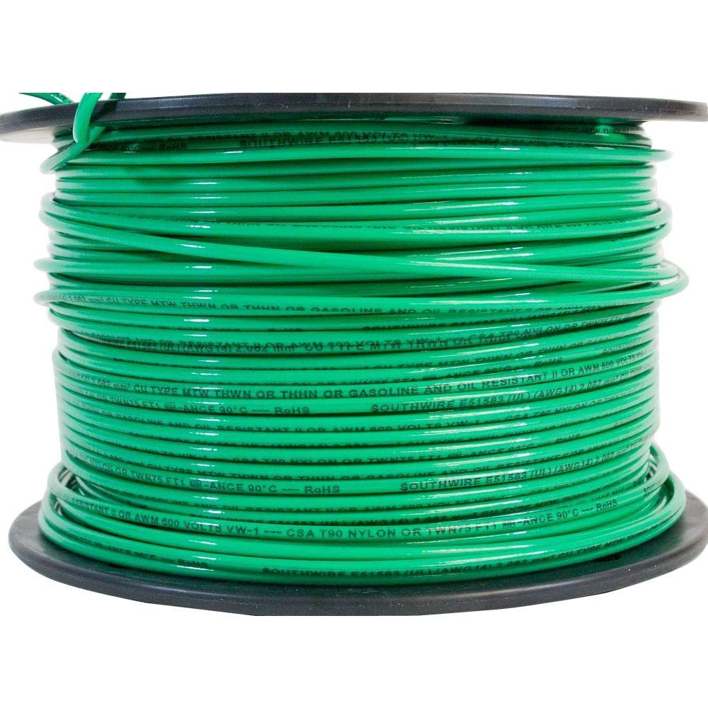 500 ft. 14 Green Stranded CU THHN Wire