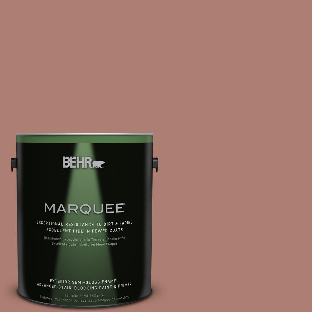 BEHR MARQUEE 1-gal. #PPU2-11 Mars Red Semi-Gloss Enamel Exterior Paint-545401 -