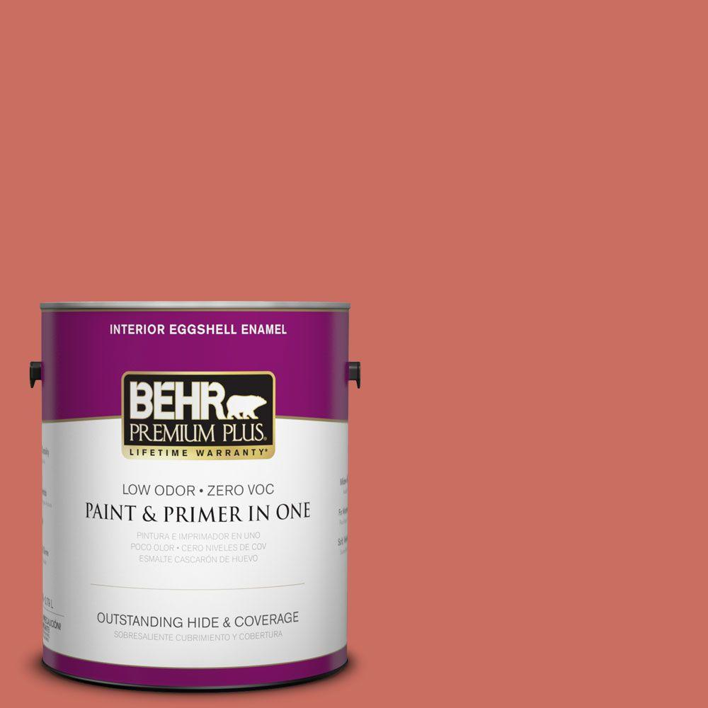 Interior Paint, Exterior Paint & Paint Samples: BEHR Premium Plus Paint 1-gal. #M170-6 Dash of Curry Eggshell Enamel Interior Paint 230001