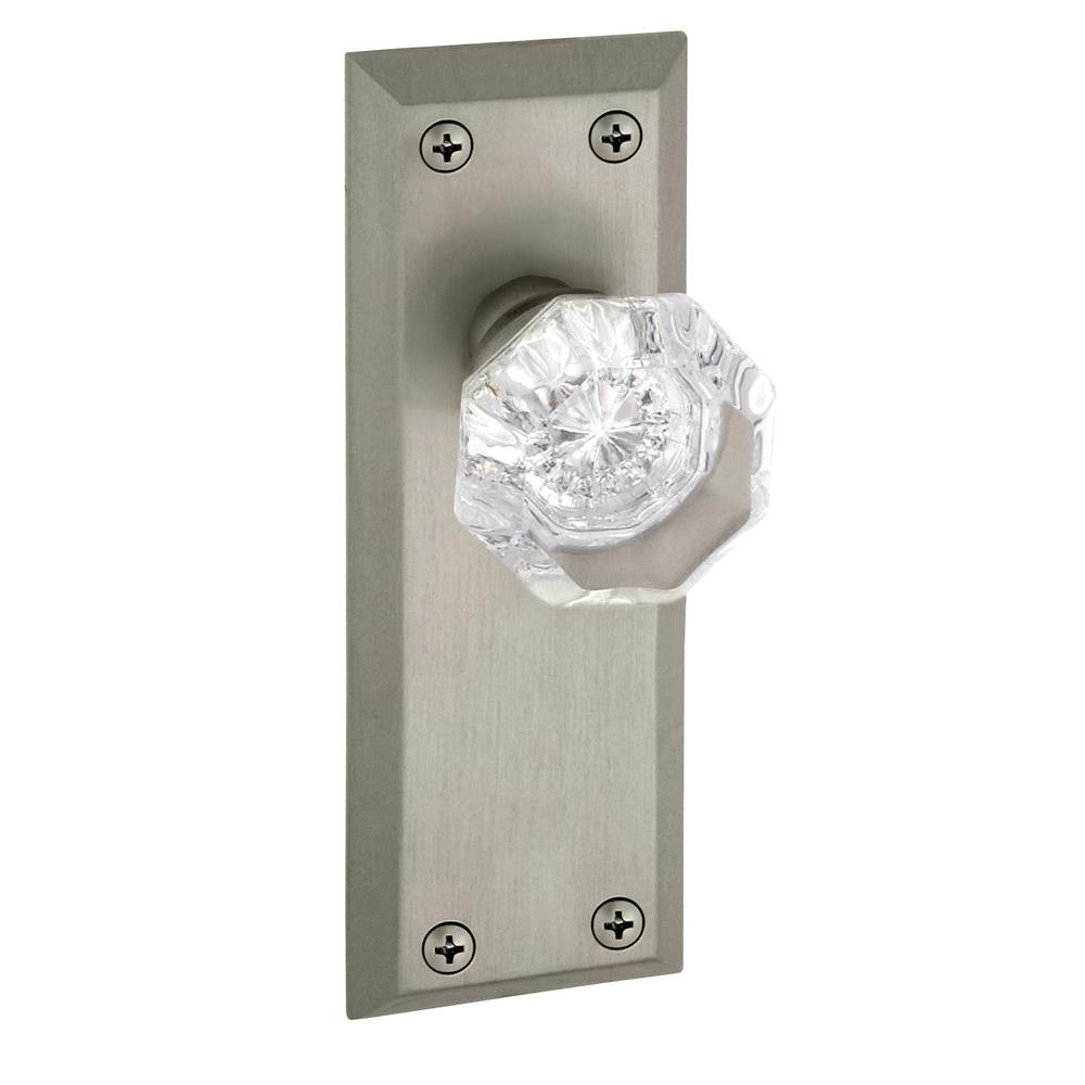 Fifth Avenue Satin Nickel Plate with Dummy Chambord Crystal Knob