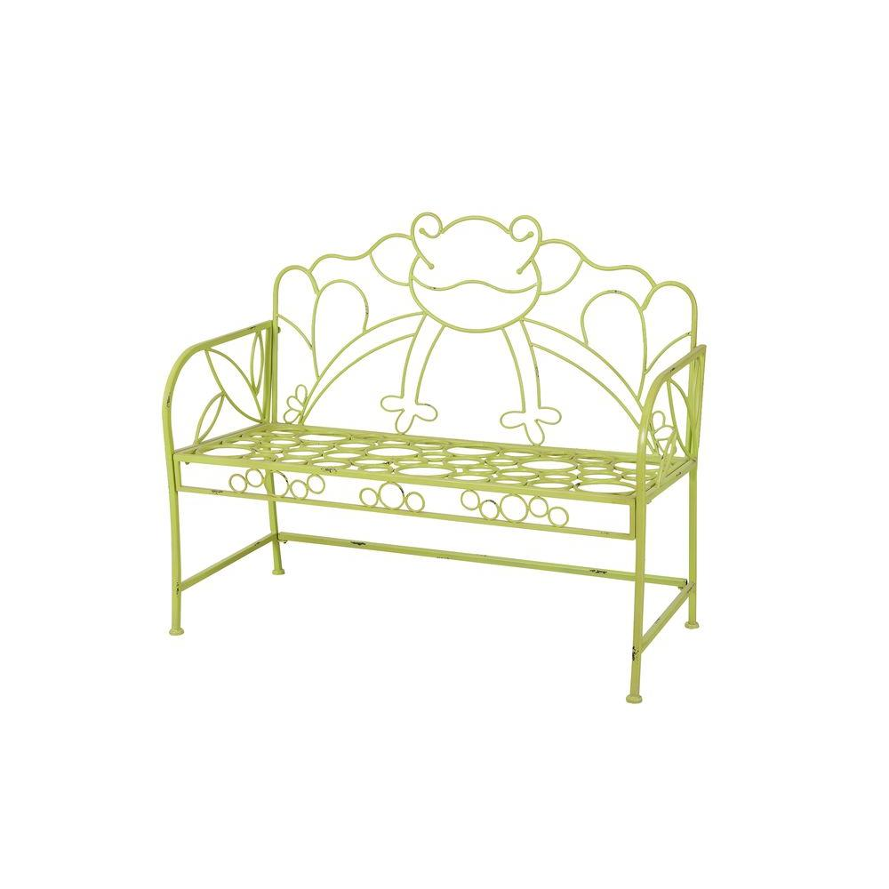 Frog Iron Green Patio Bench