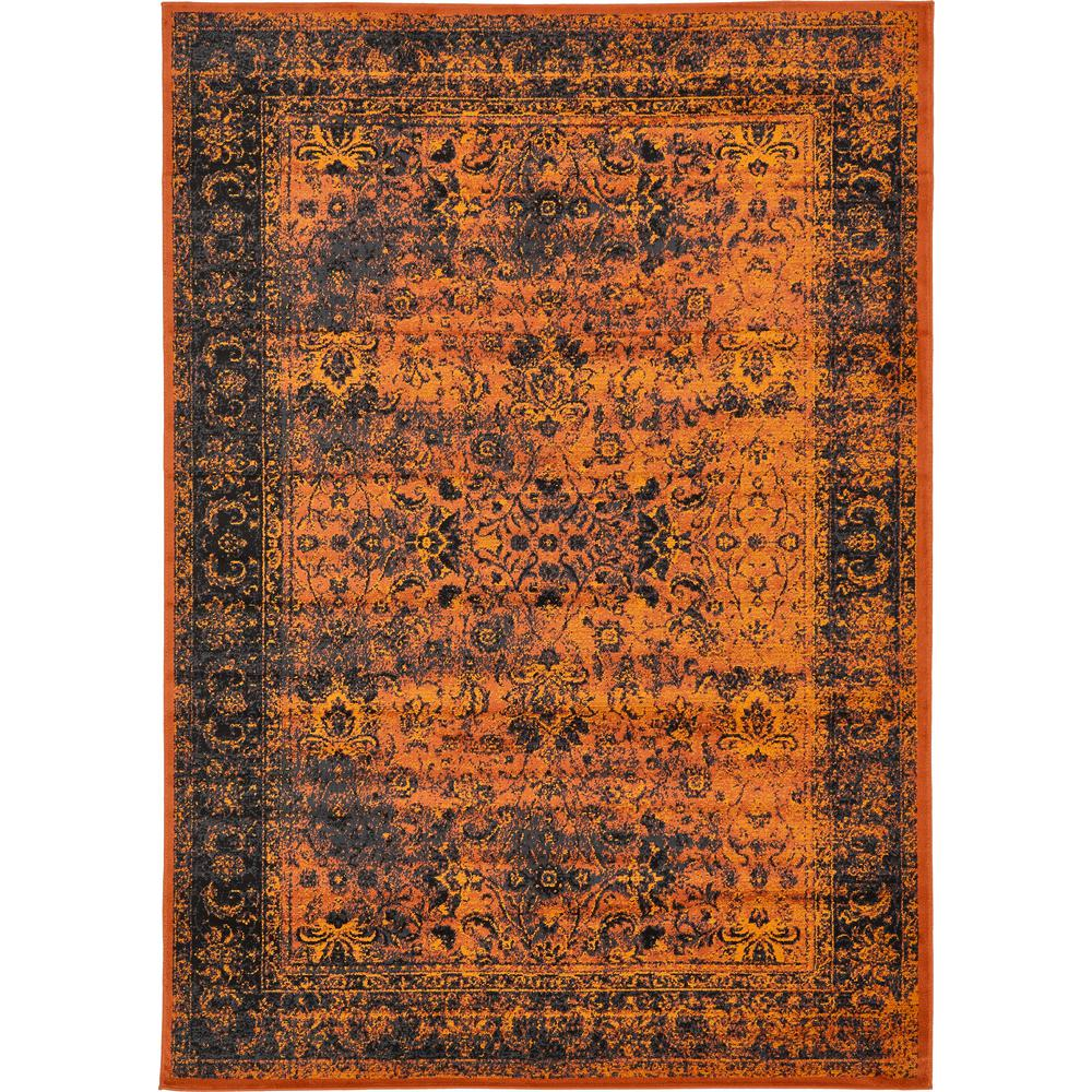 Linoleum Rug Turquoise Terracotta Area Rug Or Kitchen Mat: Unique Loom Istanbul Terracotta 7 Ft. X 10 Ft. Area Rug