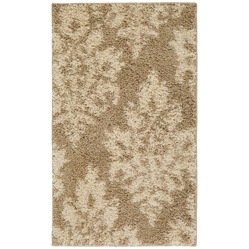 Meadow Damask Neutral 1 ft. 10 in. x 3 ft. Accent