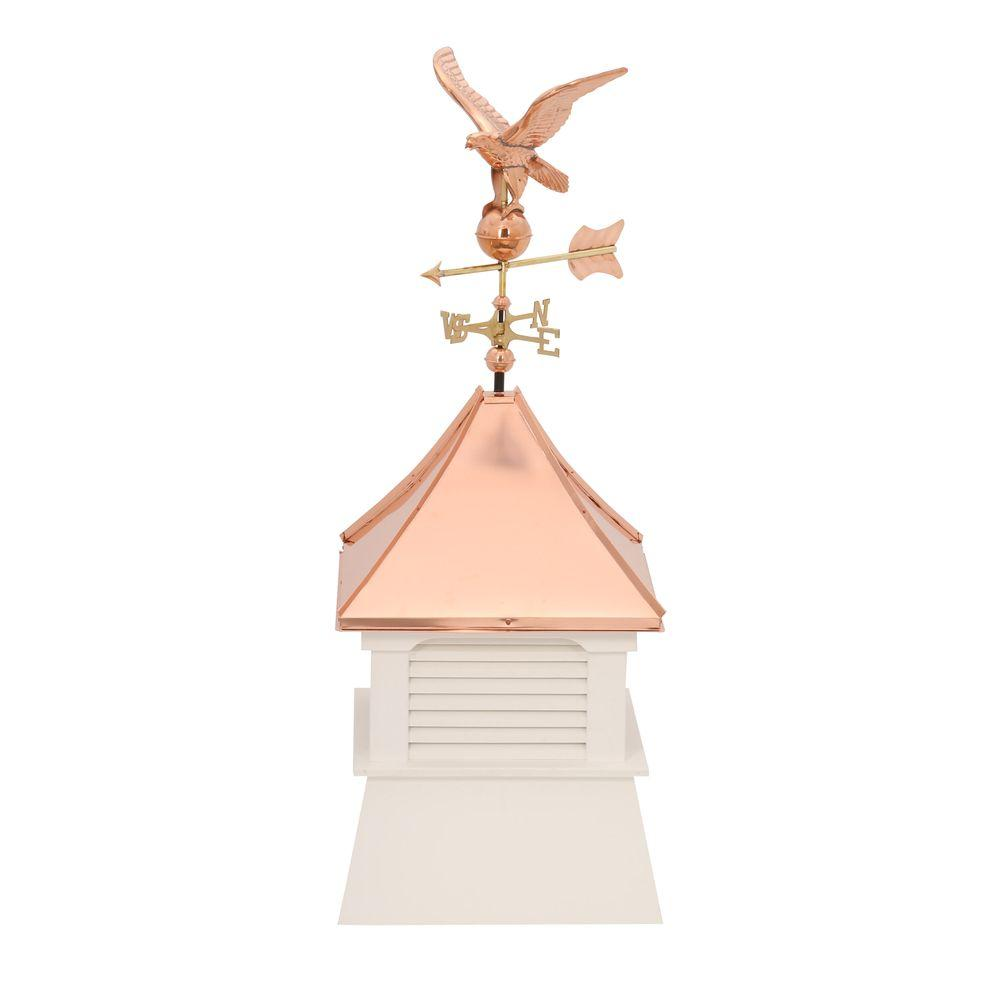 HomePlace Structures Belvedere 24 in. x 24 in. x 63 in. Composite Vinyl Cupola with Weathervane