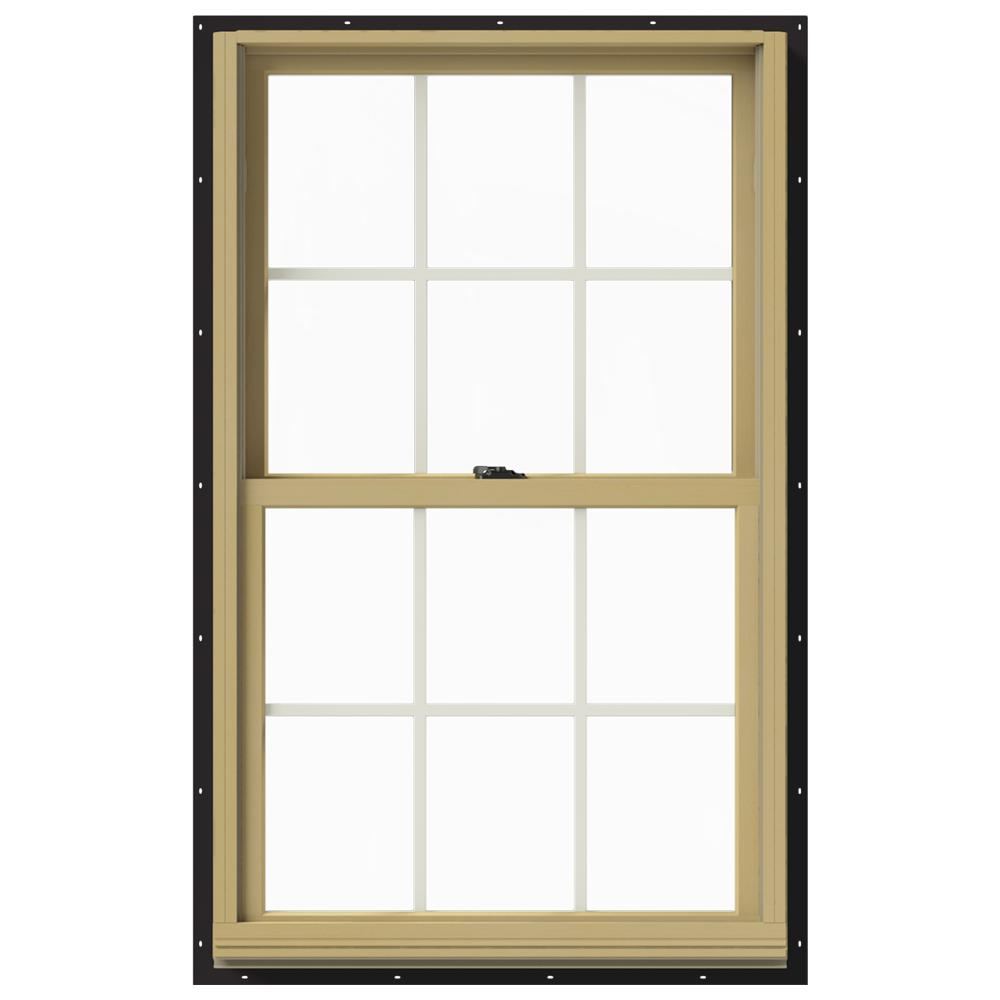 29.375 in. x 48 in. W-2500 Double Hung Aluminum Clad Wood