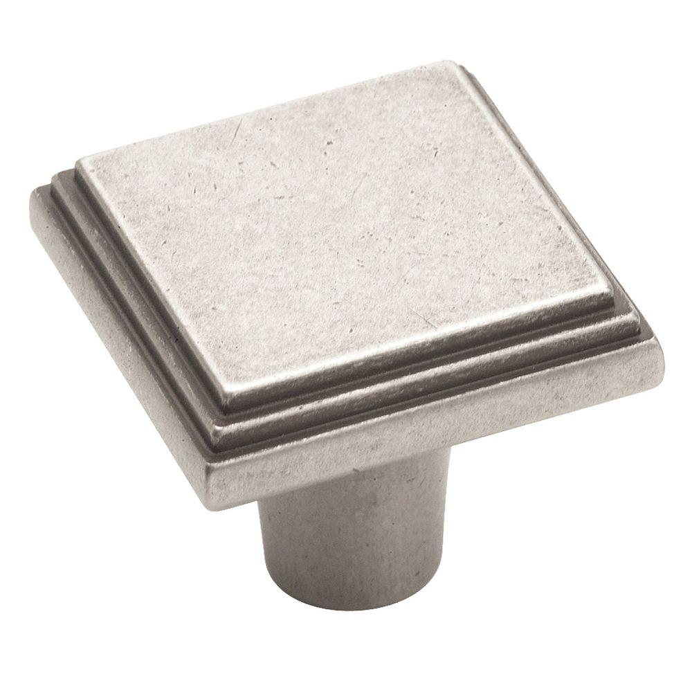 Amerock Manor 1 in. Weathered Nickel Cabinet Knob