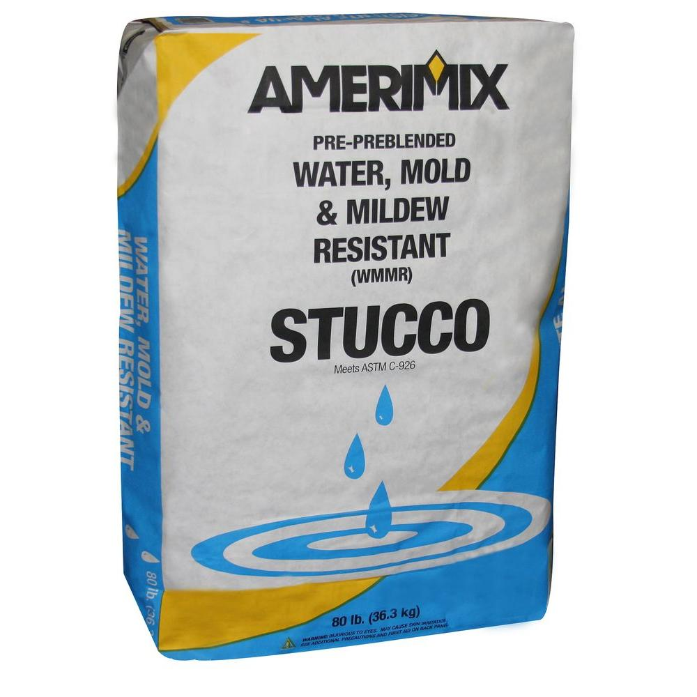 80 lb. Water, Mold and Mildew-Resistant Stucco