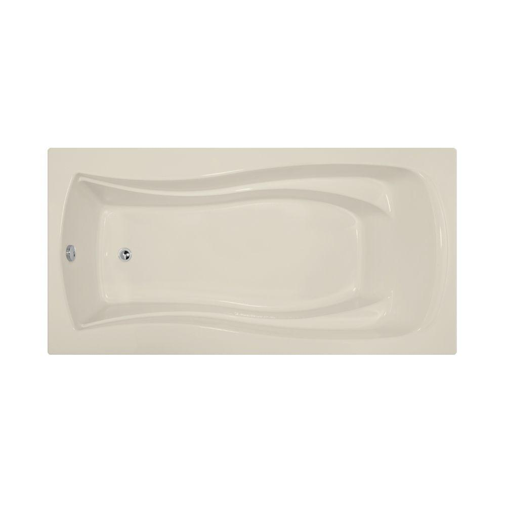 Charlotte 6 ft. Reversible Drain Air Bath Tub in Biscuit