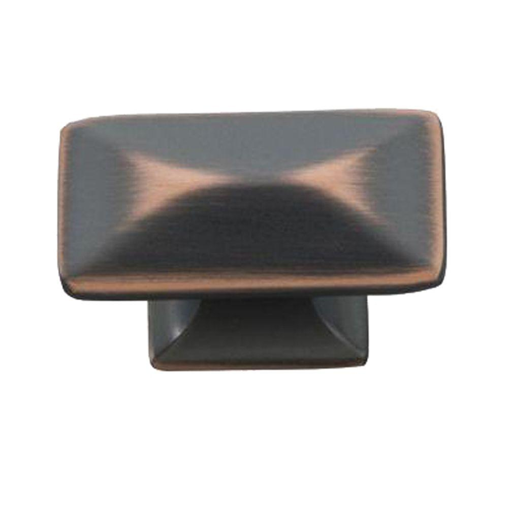 Hickory Hardware Bungalow 1-1/4 in. Oil Rubbed Bronze Highlighted Cabinet Knob